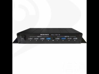 HD402-4进2出带音频HDMI全高清矩阵