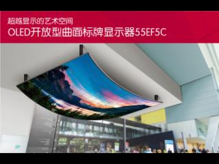 55EF5C-LG OLED開放型曲面拼接顯示器