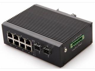 HY5700-5528G-LC20-千兆2光8電寬溫卡軌式手拉手節點式工業級以太網交換機