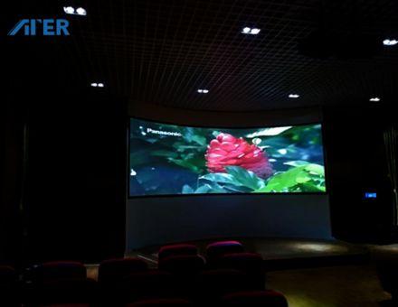ATER携AGT-M系列融合器打造广西某职教中心3D高清弧形会议系统