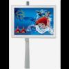 P4.54 110寸单立柱户外广告机,智慧LED广告屏-110寸图片