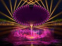 大型光影水舞秀,打造夜游新靓点