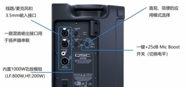 佳联深度解析:QSC CP系列超紧凑型有源扬声器