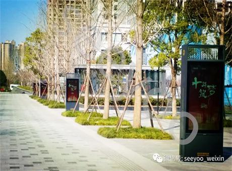 信颐户外数字标牌打造武汉CBD信息长廊