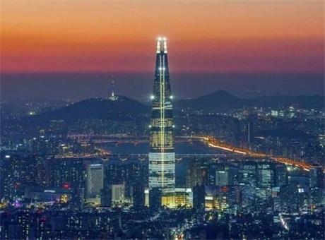 Martin灯光点亮韩国乐天世界大厦