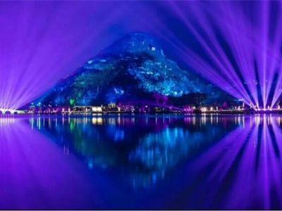 灯光秀|安恒利鬼作 安顺虹山湖之美