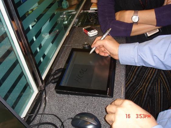供應銀行社保營業廳工單無紙化簽批10寸電磁感應書寫屏簽字屏