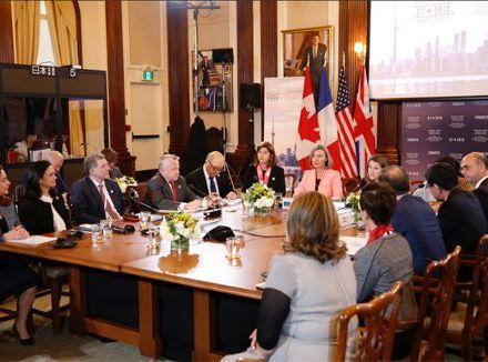 G7峰会应用雷蒙电子会议系统
