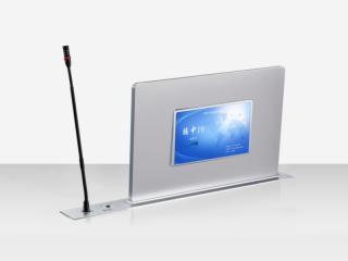超薄觸控升降一體終端(雙屏帶發言話筒)-騰中TENON 超薄觸控升降一體終端(雙屏帶發言話筒)