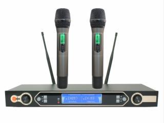 UR-8900-无线麦克风,一拖二无线手持,双静音,KTV娱乐话筒,会议话筒,无线会议系统