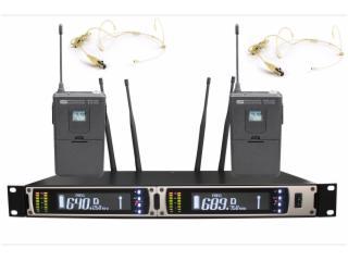 UR-390-一拖二腰包头戴麦克风话筒,电容麦,腰包扩音器,专业舞台演