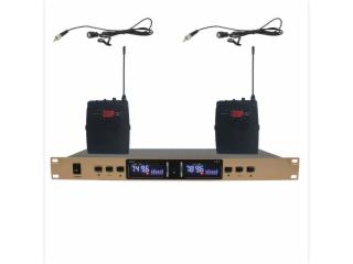 UR-185-一拖二腰包领夹麦克风话筒,电容麦,腰包扩音器