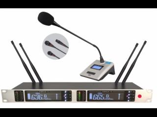 UR-362-一拖二无线会议麦克风话筒,电容鹅颈麦