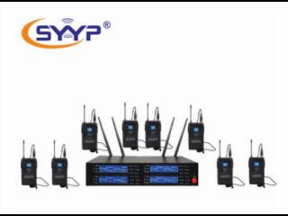 UR-4880-SYYP思音UR-4880 一拖八舞臺演出無線頭戴領夾腰包麥克風,領夾式擴音器麥