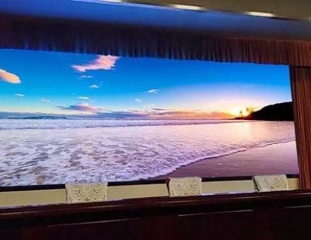 邢台市委员会党校报告厅应用Voury卓华小间距黑力士系列LED显示屏