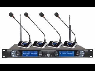 MU4400-U段一拖四无线会议话筒