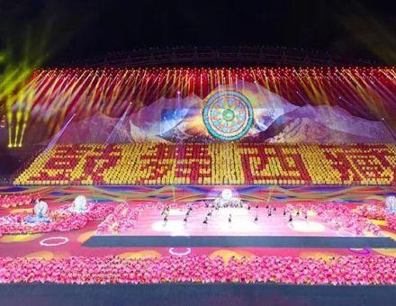 西藏史上最大规模运动会,艾比森500㎡LED大屏尽显民族特色