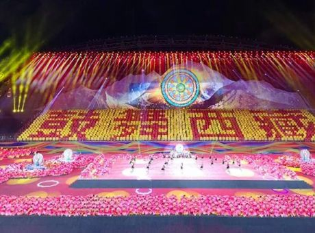 艾比森500㎡LED大屏助力西藏运动会