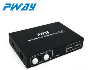 HS0201K-HDMI KVM切換器 2進1出鍵盤鼠標共享遙控