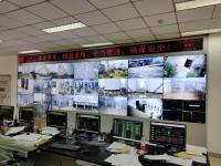 南京六合某工業園46寸3行7列液晶拼接屏項目順利完工