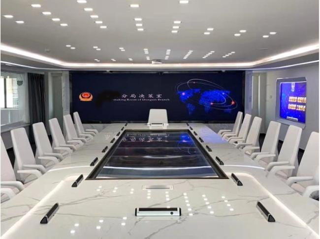 議朗指揮中心陣列話筒運用實例 —— 武漢市公安局某分局