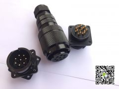 铝合金材料IP45防水等级演8芯音箱座和音箱插头演出专业音箱