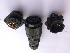 专业音箱母座8芯接插头防水线阵箱子音响配件