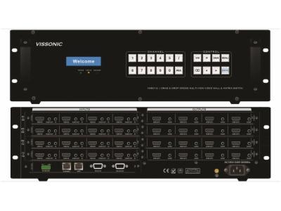 VIS-VM1616-X9系列高清无缝混合LED/LCD拼接处理器-16路插卡处理器机箱