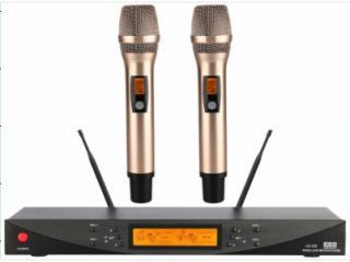 UK-200-双通道无线麦克风UHF(KTV/唱歌专用/小会议室)