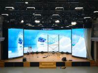 巴科自动开合LED显示屏助力香河融媒体中心打造新型强势主流媒