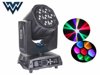 WY-0715-7颗15W蜂眼摇头染色灯 LED伸缩调焦舞台光束灯