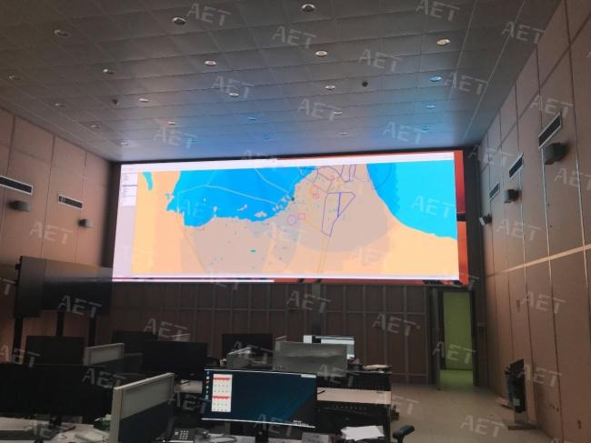 阿尔泰小间距走出国门,为阿联酋安防监控室提供高清显示助力