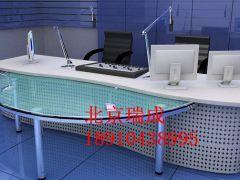 播音臺訪談桌導播桌演播桌訪談桌非編臺電視臺播音桌主持人直