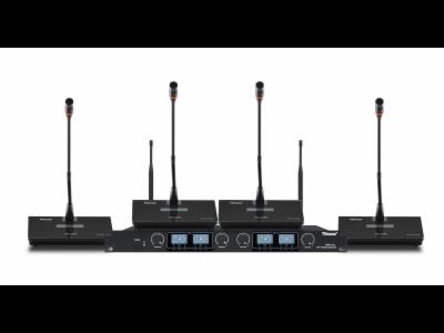 GMW-U4A-四通道無線鵝頸會議話筒