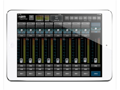 MIXX12-12路机架式Dante 无线数字调音台