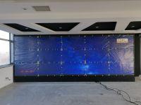 唐山电视台55寸3.5mm3x5拼接屏安装完毕