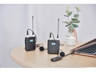 UWL100-臻為 無線領夾式麥克風便攜式USB降噪演講主持節目新聞采訪教學培訓