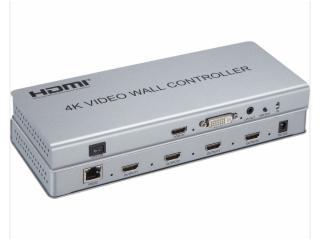 XR-HDPJ2X2-4K-新锐视听 4K 2X2 HDMI DVI视频拼接处理器 视频拼接盒