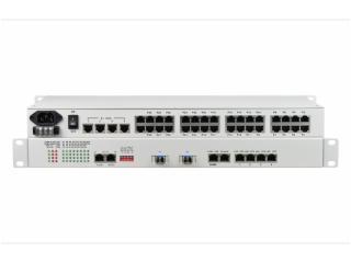 FCP-O30E4F4R4C1/FCP-S30E4F4R4C1-飞畅科技-30路电话+4E1+4FE+4RS232 数据光端机