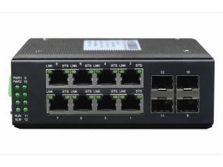 ERING-FG4G8-飞畅科技-环网型 8千兆电口+4路千兆光口 交换机