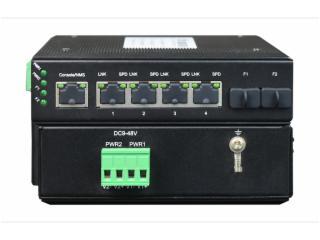FCMJG-G4-飛暢科技-非網管 工業級2光4電千兆級連式交換機