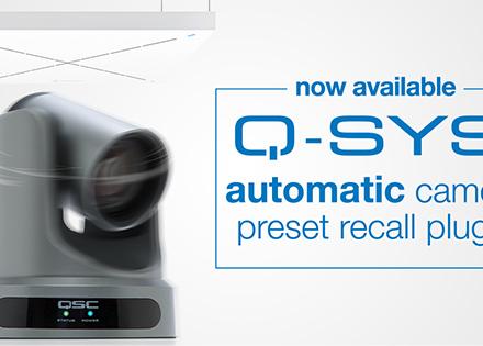 Q-SYS會議攝像機預設自動回置插件