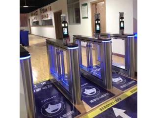 007-地鐵閘機超市智能橋式翼閘小區人臉識別斜角翼閘人臉識別系統