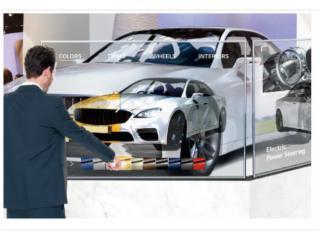 WG5F 系列-萬國 55 寸 OLED 透明顯示屏,電容觸摸OLED透明屏