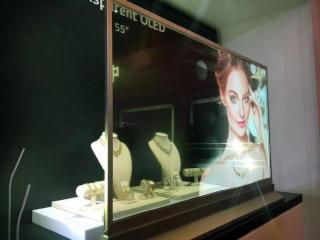 WG-55EW1-55寸OLED透明屏 臺式透明OLED廣告機