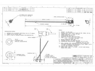 110-343-鞭状机载天线121.5-406MHz