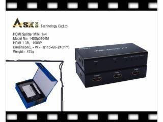 HDSP0104M-HDMI分配器1进4出mini