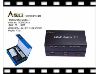 HDSW0301m-HDMI切换器3进1出迷你型