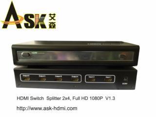 HMX-A5-HDMI切换 分配器 2进4出