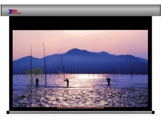 JVP-HDM-巨屏家用投影银幕,纯平高清幕,电动拉线幕,豪华透声幕
